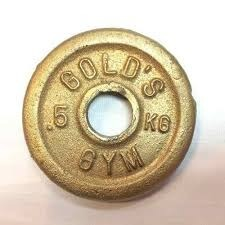 Discos De Pesas Gold's Gym Dorados