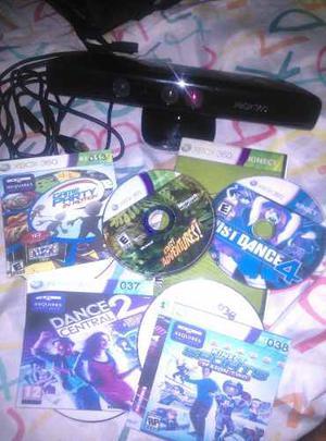 Kinect De Xbox360 Con Un Juego Original Y Otros Copia