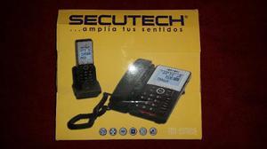 Teléfono Fijo +auxiliar Inalambrico Secutech