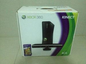 Xbox 360 Slim 4 Gb + Kinect + 2 Controles + Juegos