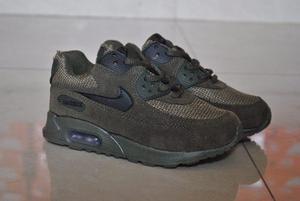 Kp3 Zapatos Nike Air Max 90 Militar Para Niños Y Niñas