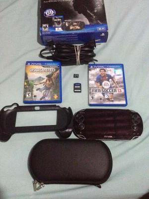 Psvita Sony Original + 3 Juegos Originales + Memoria De 4gb