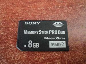 Memory Stick Pro Duo 8gb Original Sony Products (usada)