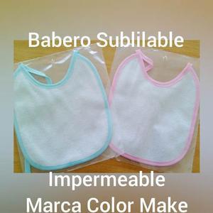 Babero Para Sublimar. Color Rosado Y Azul