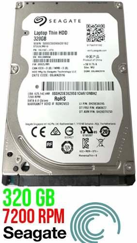 Disco Duro 320 Gb Seagate Sata Para Laptop Nuevo 0 Horas