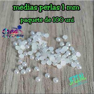 Medias Perlas Blancas De 1mm, Pqt De 100 Und, A Solo bs