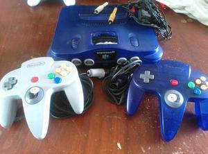 Nintendo 64 2 Controles + 4 Cassette Negociable