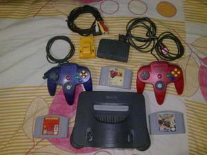 Nintendo 64 Completo + 2 Controles + Rumble 2x1 + 3 Juegos