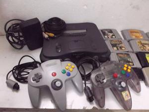 Nintendo 64 Con 11 Juegos Dos Controles Y Una Memory Card