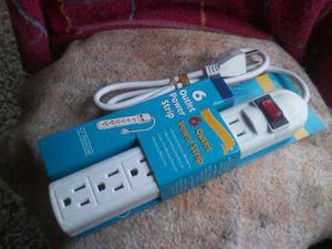 Regleta Electrica Toma Corriente De 6 Enchufes Con Switch