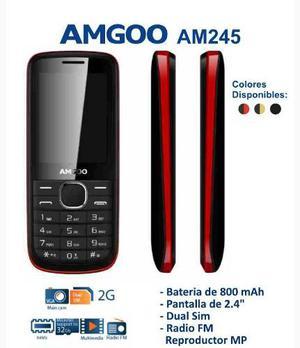 Telefono Celular Amgoo Modelo Am245 Dual Sim Liberado