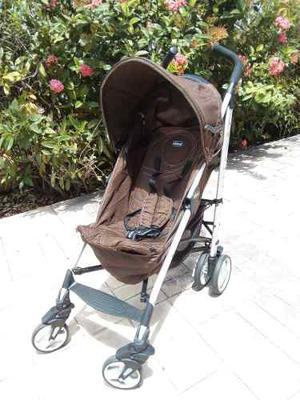 Coche Para Bebé Chicco Lite Way Marrón.. Usado