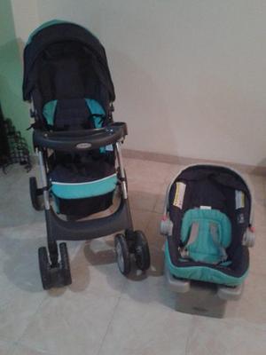 Combo De Coche Graco Con Porta Bebé Y Base Para Carro Usado