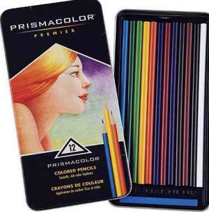 Creyones Prismacolor Premier Estuche Metalico De 12 Oferta