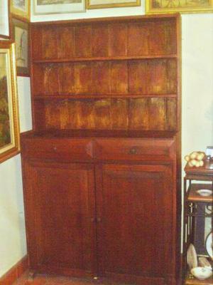 Mueble Antiguo Colonial Estanteria 2 Peldaños 2 Gavetas 2