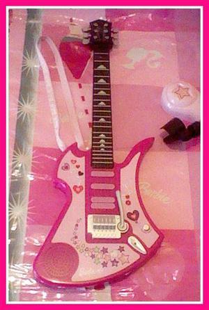 Barbie Guitarra Electrónica. Original Sonata y con Sonido.