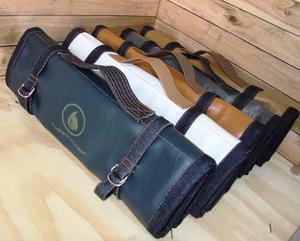 Estuches para cuchillos de chef en cuero y jeans tuestuchef 0210a5a7d7d6