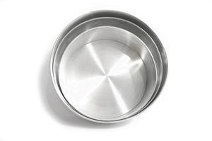 Juego De 3 Torteras Redondas En Aluminio  Y 34 Cm