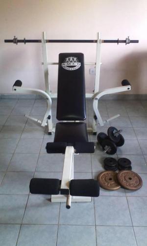 Multifuerzas banco de ejercicios juego de pesas