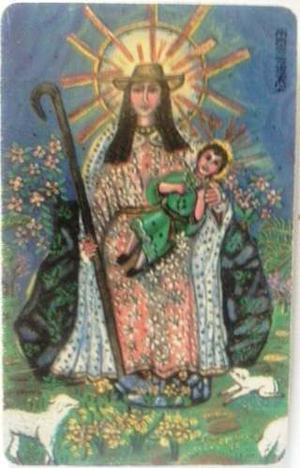 Tarjeta Cantv Usada  Virgen De La Divina Pastora