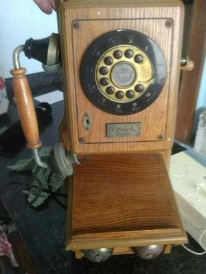 Telefono Antiguo De Madera 100% Funcional