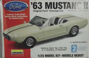 ´63 Mustang Ii Concept - Lindberg Escala 1/25