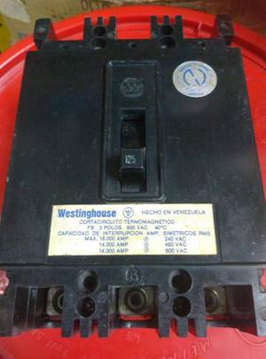 Breaker De 3 Polos Termomagnetico De 125a Westinghouse