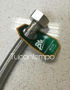 Canilla Malla Flexible De Acero Inox Original Bm 1/2 X 5/8