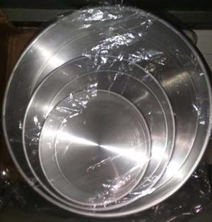 Juego De Torteras Redondas De 3 Piezas De Aluminio