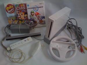 Nintendo Wii Blanco Con Juegos Y Accesorios
