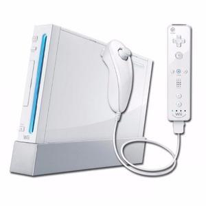 Nintendo Wii Con Controles, Cables, Guitarra Hero Y Volante