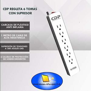 Regleta Cdp 6 Tomas/supresor De Picos Cdpr-ps6.