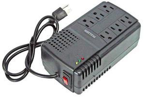 Regulador De Voltaje Protector Pc Corriente 6 Tomas