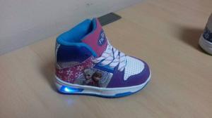 Zapatos Disney Frozen Botines Con Luces Solo Talla 19