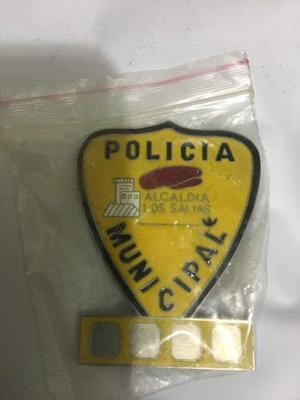 Antigua Chapa Placa Policía Los Salías