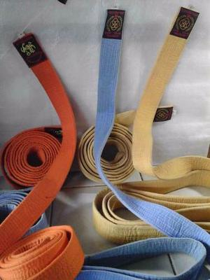 Cintas De Karate Do Blanca Azul Celeste Y Naranja