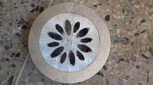 Inodoro Rejilla Desague De Aluminio Redondo 15 Cm