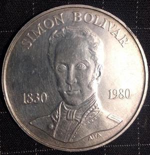 Moneda Conmemorativa De Simon Bolívar, Plata
