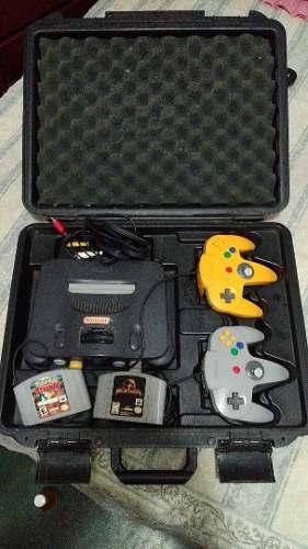 Nintendo 64, Dos Controles Originales, Dos Juegos Y Estuche