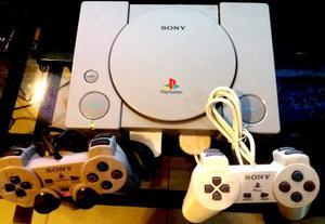 Playstation 1 Original + Chip + 2 Controles + Juegos