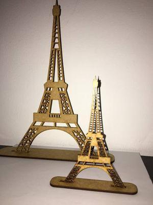 Torre Eiffel En Mdf De 3mm Corte Laser
