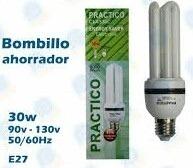 Bombillos Ahorradores 3u 30w Luz Blanca Marca Práctico