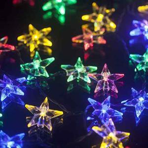 Estrellitas De Navidad Con Luces Led Intermitente Guirnalda