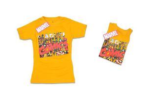 Franelas De Niño Talla 2 Color Amarillo Modelo 003 Marvel