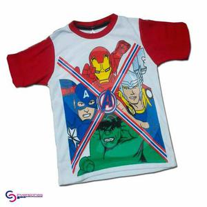 Franelas Para Niños De Avengers T8 A La T12