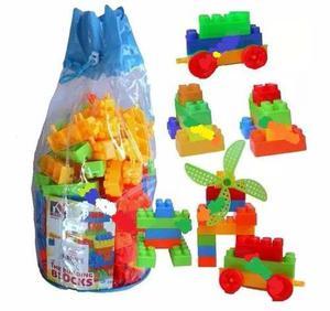Lego 200 Piezas Bolso Grande Juguete Didactico Bebes Niños