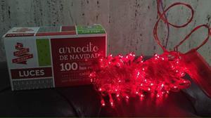 Luces De Navidad 100 Bombillos (arroz). Solo Rojo