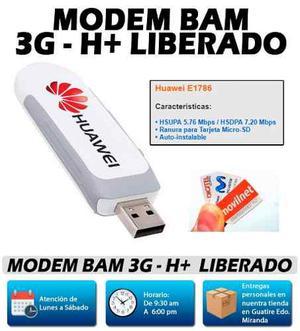 Modem Bam Usb Internet 3g H+ Liberado Nuevo Oem