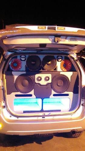Sonido Profecional Completo Para Carro Planta Bajos Twister