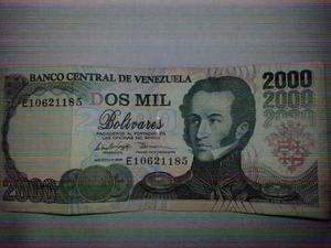 Billete De  Bolivares